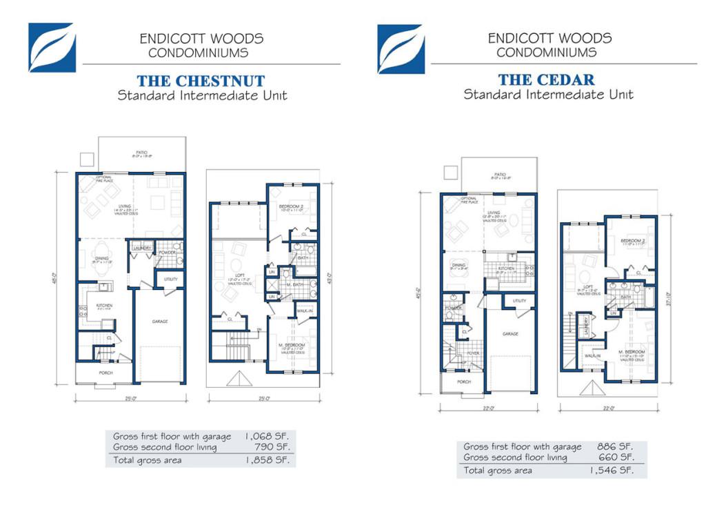 Endicott Woods Floor Plans