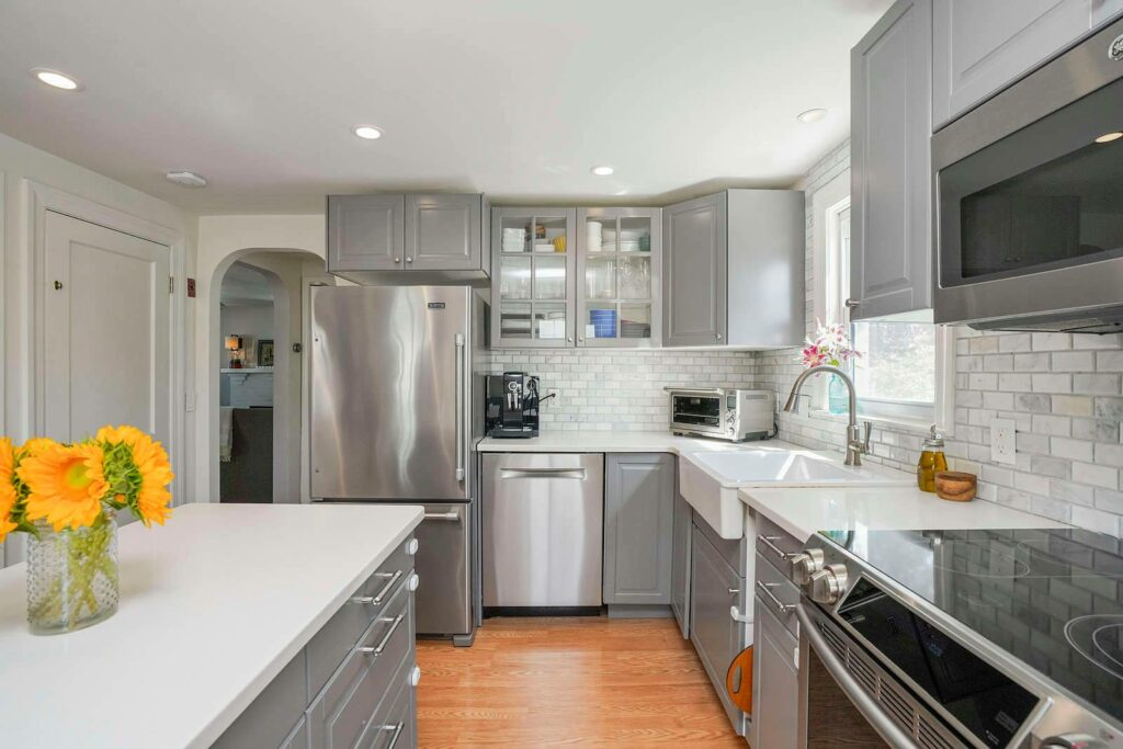 Photograph of kitchen at 18 Beech Street in Dedham MA