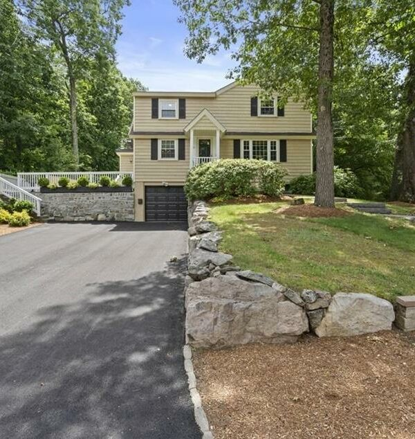 Front exterior photograph of 56 Ledgewood Road, Dedham MA