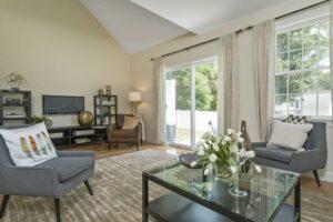 Photograph of Living Room and Door to Backyard