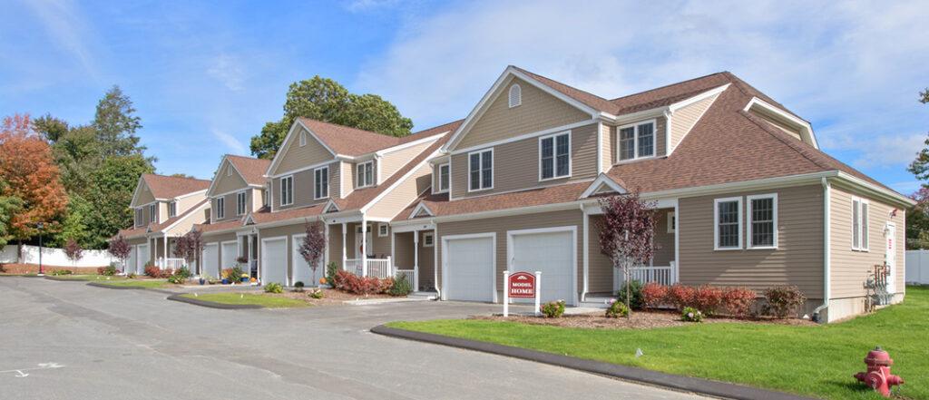Front exterior photograph of Endicott Woods Model home unit