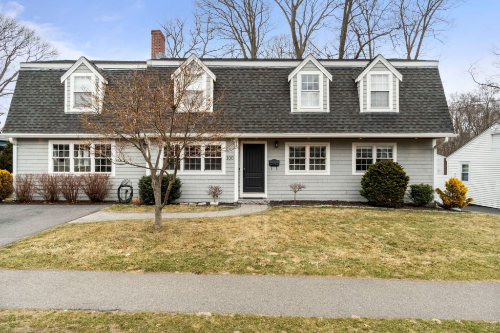 Exterior photograph of 100 Kimball Road in Dedham MA